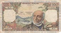 French Antilles 100 Francs Victor Schoelcher - ND (1964) - Serial M.2 - aF - P.10b - 2nd signatures