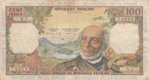 French Antilles 100 Francs Victor Schoelcher - ND (1964) - Serial N.1 - Fine - P.10a - 1st signature