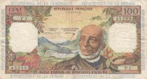 French Antilles 100 Francs Victor Schoelcher - ND (1964) - Serial P.1 - VFi- P.10a - 1st signature