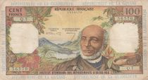 French Antilles 100 Francs Victor Schoelcher - ND (1964) - Serial Q.1 - F+ to VF - P.10a - 1st signature