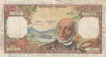 French Antilles 100 Francs Victor Schoelcher - ND (1964) - Serial R.1 - F+ to VF - P.10a - 1st signature