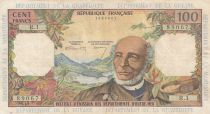 French Antilles 100 Francs Victor Schoelcher - ND (1964) - Serial R.1 - VF - P.10a - 1st signature