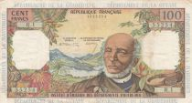 French Antilles 100 Francs Victor Schoelcher - ND (1964) - Serial R.1 - VF - P.10a - 1st signatures