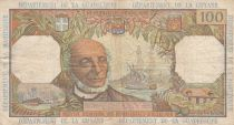 French Antilles 100 Francs Victor Schoelcher - ND (1964) - Serial S.1 - F+ to VF - P.10a - 1st signature