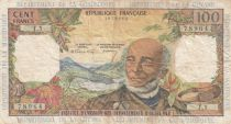 French Antilles 100 Francs Victor Schoelcher - ND (1964) - Serial T.1 - Fine - P.10a - 1st signatures