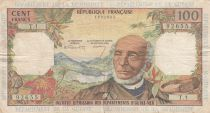 French Antilles 100 Francs Victor Schoelcher - ND (1964) - Serial T.1 - VF - P.10a - 1st signatures