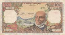 French Antilles 100 Francs Victor Schoelcher - ND (1964) - Serial W.1 - VF - P.10a - 1st signatures