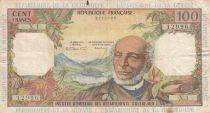 French Antilles 100 Francs Victor Schoelcher - ND (1964) - Serial X.1 - VF - P.10a - 1st signatures