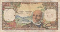 French Antilles 100 Francs Victor Schoelcher - ND (1964) - Serial Y.1 - F to VF - P.10a - 1st signatures