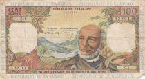 French Antilles 100 Francs Victor Schoelcher - ND (1964) - Serial Z.1 - aF - P.10a - 1st signature