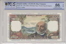 French Antilles 100 Francs Victor Schoelcher - ND 1964 Serial F.3 - PCGS 66 OPQ