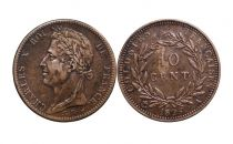 French Colonies 10 Centimes Charles X