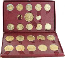 French Colonies Box with 23 Test Strikes -  French Union for Colonies - 1948-1949 Paris
