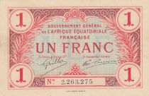French Equatorial Africa 1 Franc - 1917 - P.2 - XF