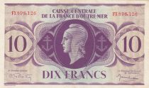 French Equatorial Africa 10 Francs 1944 - Serial FX- P.16b - XF