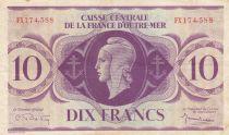 French Equatorial Africa 10 Francs 1944 - Serial FX- P.16b