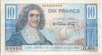 French Equatorial Africa 10 Francs Colbert - 1946 -  Specimen