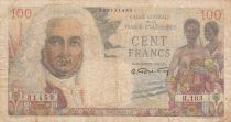 French Equatorial Africa 100 Francs - 1947 - Serial H.103 - P.24