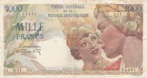French Equatorial Africa 1000 Francs - 1946 - Serial Q.11 - P.26