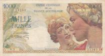 French Equatorial Africa 1000 Francs - 1946 - Serial V.7 - P.26