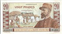 French Equatorial Africa 20 Francs Emile Gentil - 1946 -  Specimen