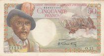 French Equatorial Africa 50 Francs - 1947 Serial O.23 - P.23