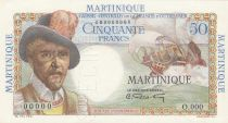 French Equatorial Africa 50 Francs Belain d\'Estambuc - 1947 Spécimen O.000