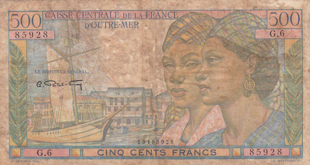 French Equatorial Africa 500 Francs - 1946 - Serial G.6 - P.25