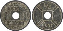 French Indo-China 1/4 Cent Etat Français 1942-1943 - F