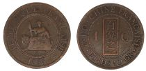 French Indo-China 1 Cent Liberty Seated - Indo-China 1885 A Paris