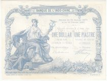 French Indo-China 1 Dollar - 1 Piastre - Specimen - 1891 - a.UNC - P.24