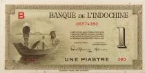 French Indo-China 1 Piastre - 1945 Letter B - UNC