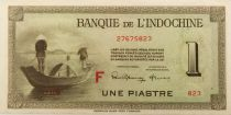 French Indo-China 1 Piastre - 1945 Letter F - VF