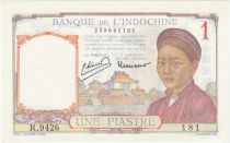 French Indo-China 1 Piastre - 1950 - aUNC - P.54e Serial R.9426