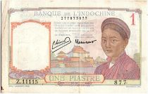 French Indo-China 1 Piastre, Laotienne - 1946 - P.54 c