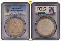 French Indo-China 1 Piastre Liberty seated - 1900 A - PCGS AU 55 - Lec 282