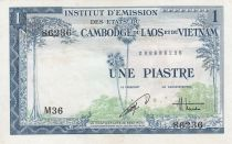 French Indo-China 1 Piastre ND (1954) - Viet Nam issue - XF - P.105 - Serial M.36