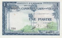 French Indo-China 1 Piastre ND (1954) - Viet Nam issue - XF - P.105 - Serial Y.50