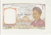 French Indo-China 1 Piastre Woman - Temple - 1949 Proof Specimen