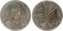French Indo-China 10 Centimes - Marian Turin - 1939 - VF - KM.21