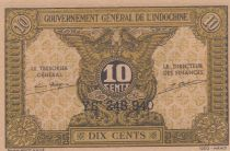 French Indo-China 10 Cents 1939 - XF - P.89