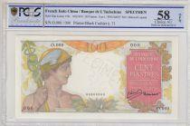 French Indo-China 100 Piastres ND1949 Mercure, Specimen - PCGS AU 58