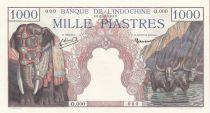 French Indo-China 1000 Piastres,  Elephants - Specimen 1951