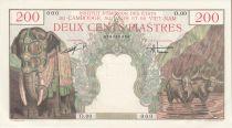 French Indo-China 200 Piastres Elephant - Bao Dai - Specimen - UNC - P. 109