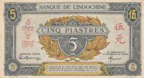 French Indo-China 5 Piastres - 1945 - Letter E -  XF - P.62
