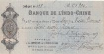 French Indo-China Check 300 Francs Banque de l\'Indochine - 1919
