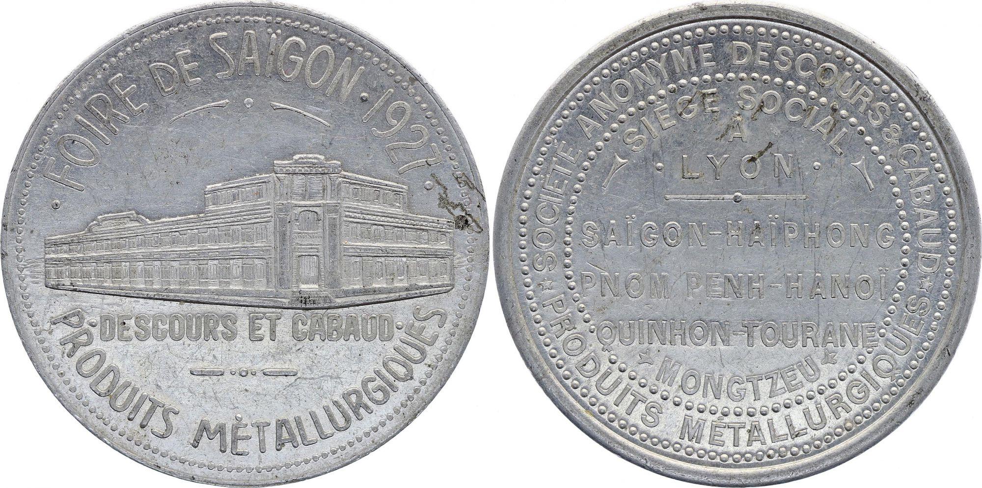 French Indo-China Token of Saigon - 1927 - VF