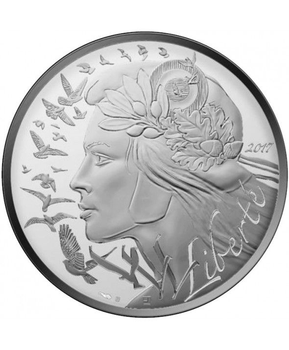 French Mint 20 Euros Marianne 2017 - Argent