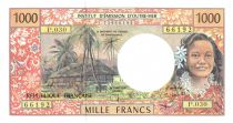 French Pacific Territories 1000 Francs Tahitian woman - Hut - 2004 alph P.30
