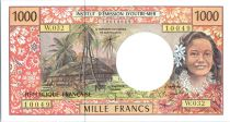 French Pacific Territories 1000 Francs Tahitian woman - Hut - 2004 alph W.32